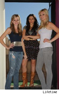 Project Runway's final three (L to R): Carol Hannah, Irina, and Althea