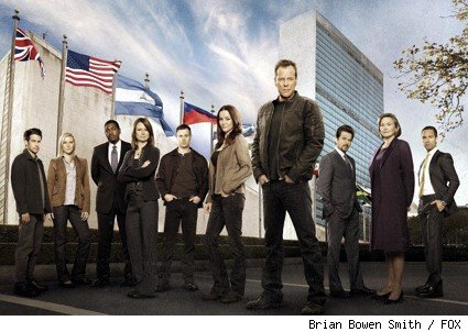 24, Season 8 Cast -- (L-R): John Boyd, Katee Sackhoff, Mykelti Williamson, Mary Lynn Rajskub, Freddie Prinze, Jr., Annie Wersching, Kiefer Sutherland, Anil Kapoor, Cherry Jones and Chris Diamantopoulos.
