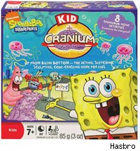 Hasbro's Spongebob Squarepants Kid Cranium mixes a game with artistic creativity.