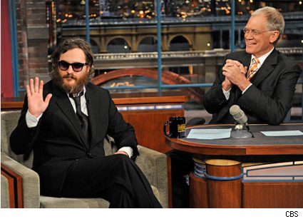 Joaquim Phoenix on David Letterman