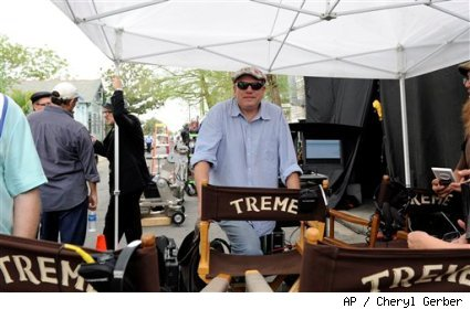 David Simon on the set of 'Treme.'