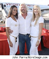 Richard Branson and Fly Girls