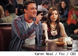 Jason Segel and Alyson Hannigan in How I Met Your Mother