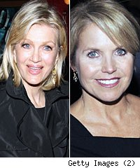 Diane Sawyer and Katie Couric