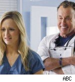 Kerry Bishe and John C. McGinley, Scrubs Season 9