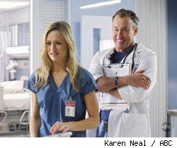 Kerry Bishe and John C. McGinley in Scrubs: Our Drunk Friend