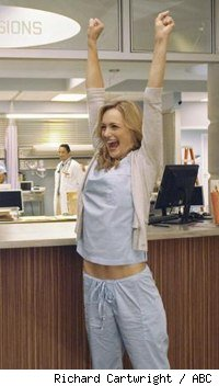 Kerry Bishe in Scrubs: Our First Day of School