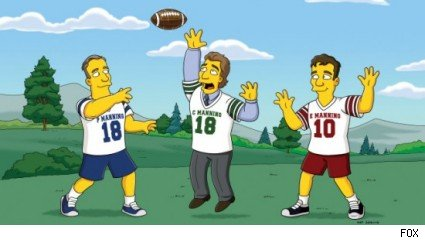 Peyton, Cooper and Eli Manning, The Simpsons