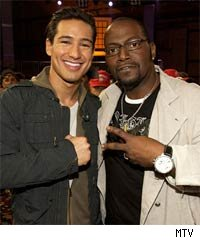 Mario Lopez and Randy Jackson