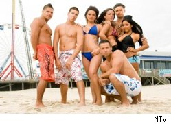 The cast of the 'Jersey Shore' - believe it or not, people of the future, but these are actual human beings!
