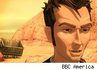 A 3D animated David Tennant stars in Dreamland.