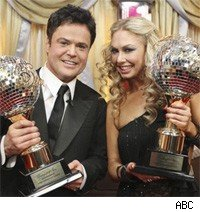 Season nine winner Donny Osmond with his partner Kym Johnson