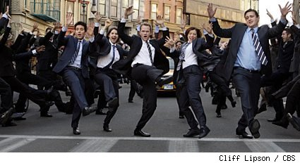 Girls vs. Suits musical number in HIMYM's 100th episode