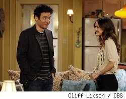 Josh Radnor and Rachel Bilson in How I Met Your Mother: Girls vs. Suits