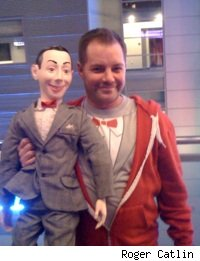 A big Pee-wee fan outside Club Nokia before Pee-wee Herman's stage show