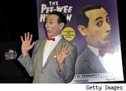 Paul Ruebens as Pee-wee Herman introducing his 2010 stage show