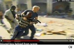 Anderson Cooper in Haiti