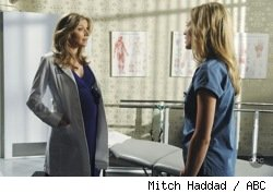 Sarah Chalke and Kerry Bishe in Scrubs: Our New Girl-Bro