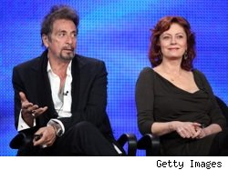 Al Pacino and Susan Sarandon at the Winter 2010 TCAs
