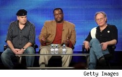 David Simon, Wendell Pierce, and Eric Overmyer promoting Treme at the Winter 2010 TCAs
