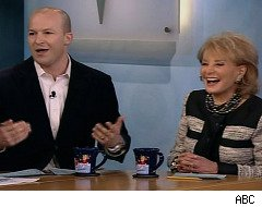 Tim Hasselbeck sits in for Elisabeth on 'The View'