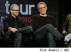 Damon Lindelof and Carlton Cuse at the Lost panel at the Winter 2010 TCAs