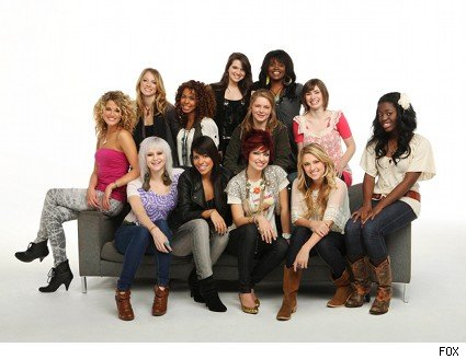 american idol top 12 girls