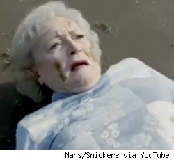 betty white super bowl snickers