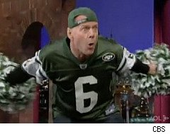 David Letterman, Bruce Willis, New York Jets