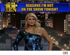 Paris Hilton does 'Top 10' List on 'David Letterman'