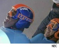 Roker and Lauer on the two-man luge at the 2006 Torino Olympics
