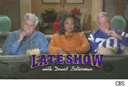 Super Bowl Ad: Letterman, Leno, Oprah