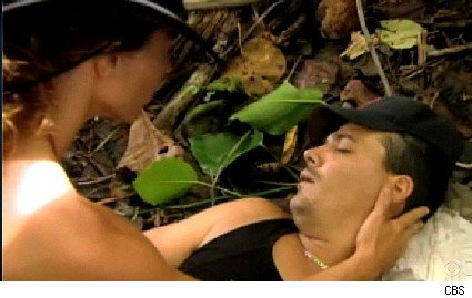 Jerri tends to a passed out Boston Rob on Survivor