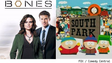 'Bones' / 'South Park'