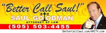 A banner ad from BetterCallSaul.com