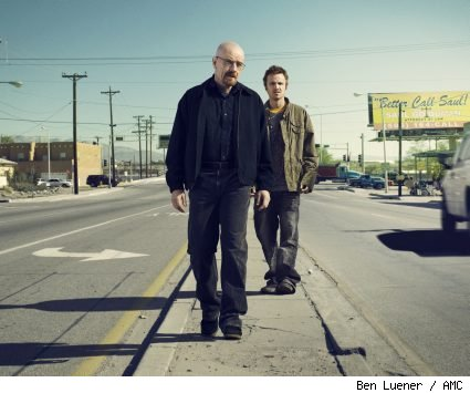 Bryan Cranston and Aaron Paul of 'Breaking Bad'