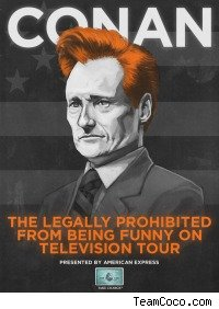 Conan O'Brien tour poster