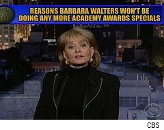 David Letterman, Barbara Walters, Top Ten List