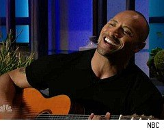 Dwayne Johnson sings on The Tonight Show with Jay Leno