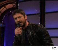 Gerard Butler Sings on 'The Tonight Show with Jay Leno'