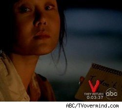 The 'V' countdown clock that appeared during 'Lost'