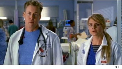 John C. McGinley &amp; Eliza Coupe, 'Scrubs'