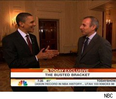 President Obama Talks College Hoops with Matt Lauer