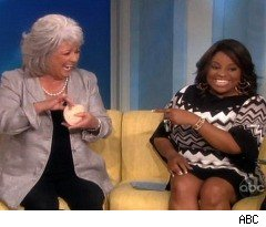 Paula Deen Pulls Things out of Her Bra on 'The View'
