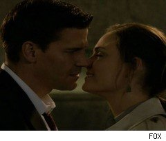 Bones and Booth Kiss on 'Bones'