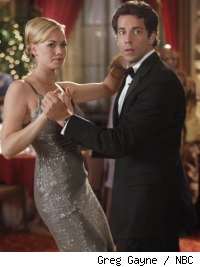 Yvonns Strahovski and Zach Levy in 'Chuck vs. The Angel de la Muerte'
