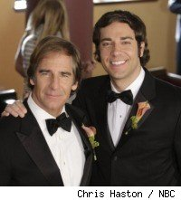 Zach Levy and Scott Bakula in 'Chuck vs. The Ring'
