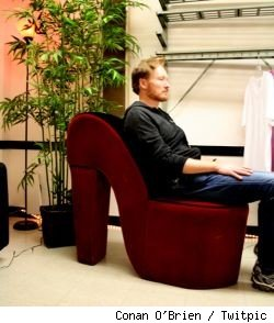 No more shoe chairs for Conan O'Brien once his production deal with Warner Bros. TV goes through