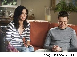 Courteney Cox and Dan Byrd in 'Cougar Town' - 'Wake Up Time'
