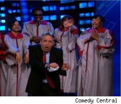 Jon Stewart's Anti-FOX Dance on 'Daily Show'